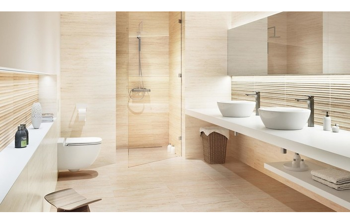 Classic Travertine Beige матова стінова 24×74 см, Opoczno - Зображення 2